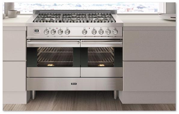 ef3be9229b ILVE Ultimo 100 Twin 6-burner Range Cookers