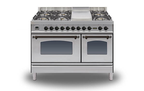 Milano 120 Twin Fry Top 70/40 (bronze)