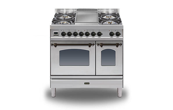 Milano 90 Twin Fry Top (bronze)