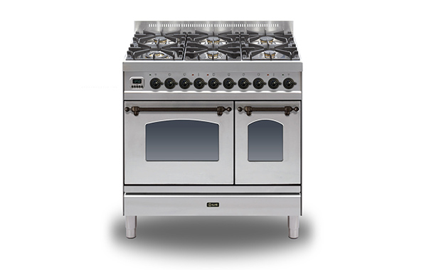 Milano 90 Twin 6-burner (bronze)