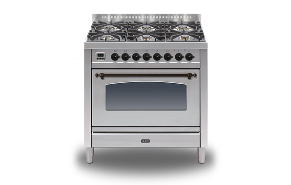 Milano 90 Single 6-burner (bronze)