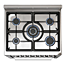 Powerful 5 burner hob