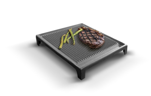Griddle - ribbed, square
